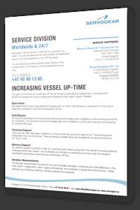 Servogear Service Leaflet - English