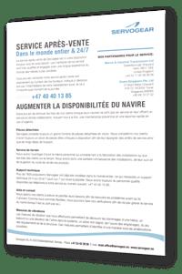 Servogear Service Leaflet - French