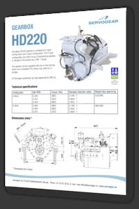 Servogear HD220 gearbox