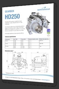 Servogear HD250 gearbox