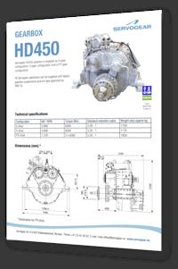Servogear HD450 gearbox