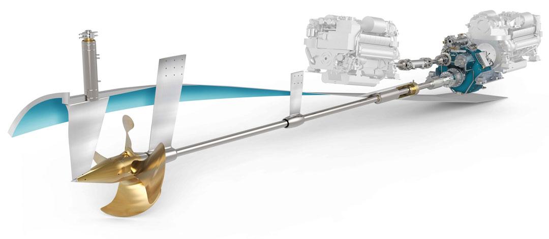 Ecoflow propulsor components - -Servogear